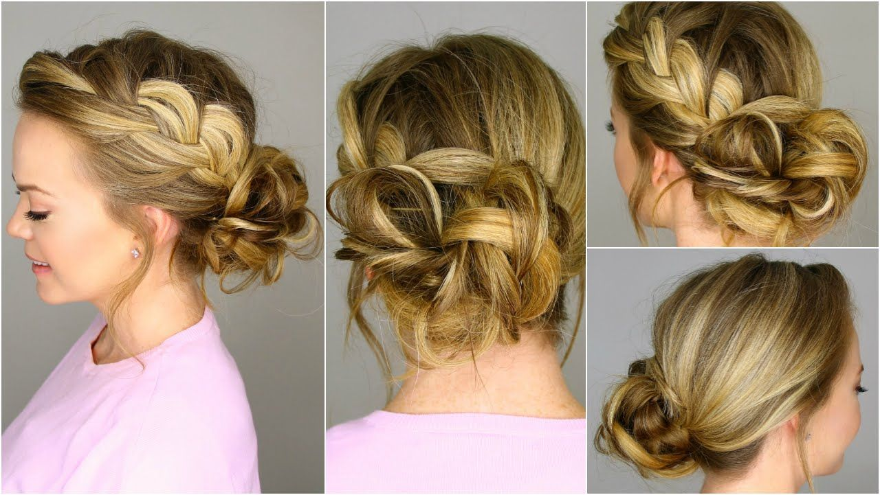 French Braid bun by missy sue