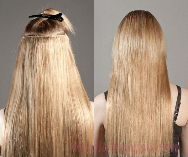 how to instal clip in hair extensions