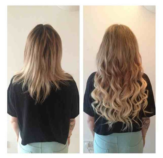 Before After Hair Extensoins Canada Hair
