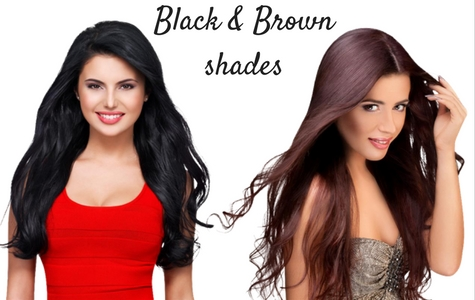 Hair extensions black and brown shades