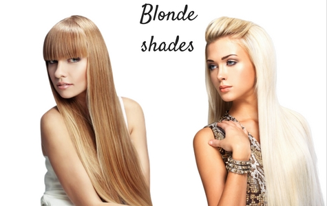 Hair extensions blonde shades