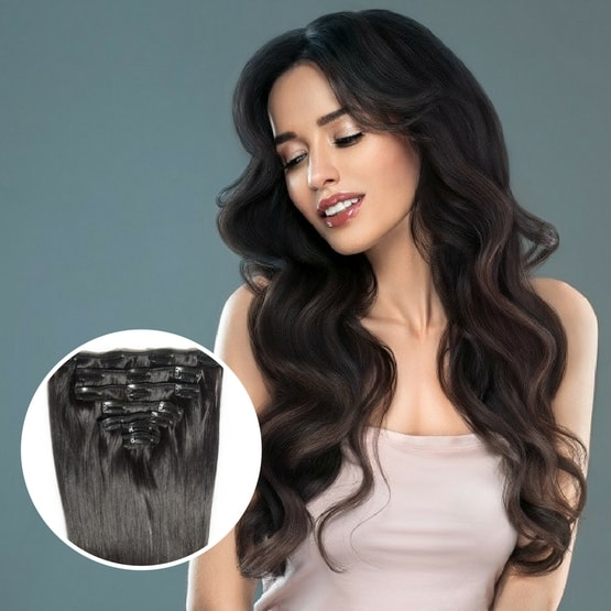 Buy clip in hair extensions in Canada