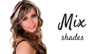Mix shades of hair extensions
