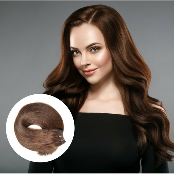 Hair wefts indian remy hair extensions