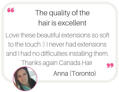 Hair extension delivery in Toronto