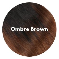 Ombre chestnut brown